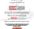 HAPPY ANNIVERSARY ROYAL LePAGE