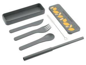 PLA reusable bamboo utensil set