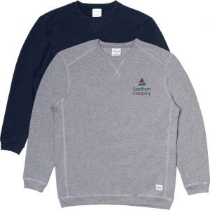Crewnecks made from recycled materials