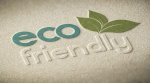 """Image with text overlay that reads """"eco friendly"""""""