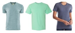 T-shirts made from eco-friendly fabrics
