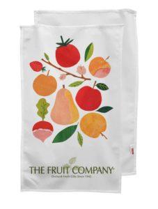 Fruit print tea towel