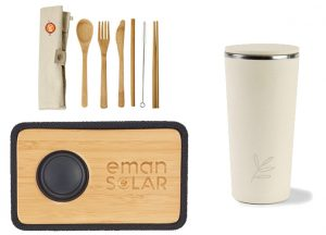 utensils, speakers, and tumbler made from bamboo