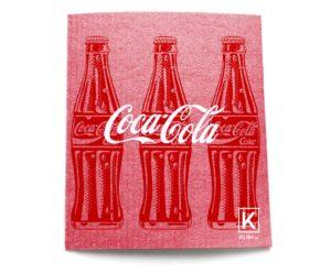 Red Coca Cola tea towel