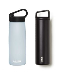 Reuable water bottles by Camelbak and Miir