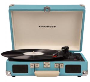 Crosley teal turntable