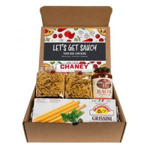 Italian pasta kit with noodles and sauce