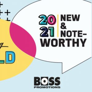 Boss Promotions illustration for 2021 new and noteworthy catalogue