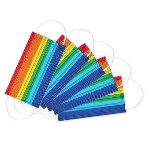 Rainbow disposable mask
