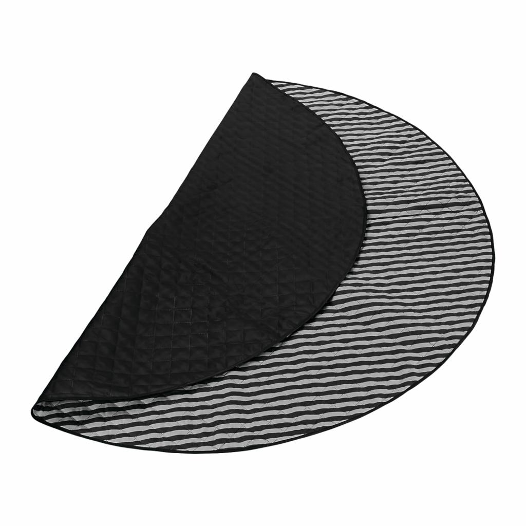 black round picnic blanket