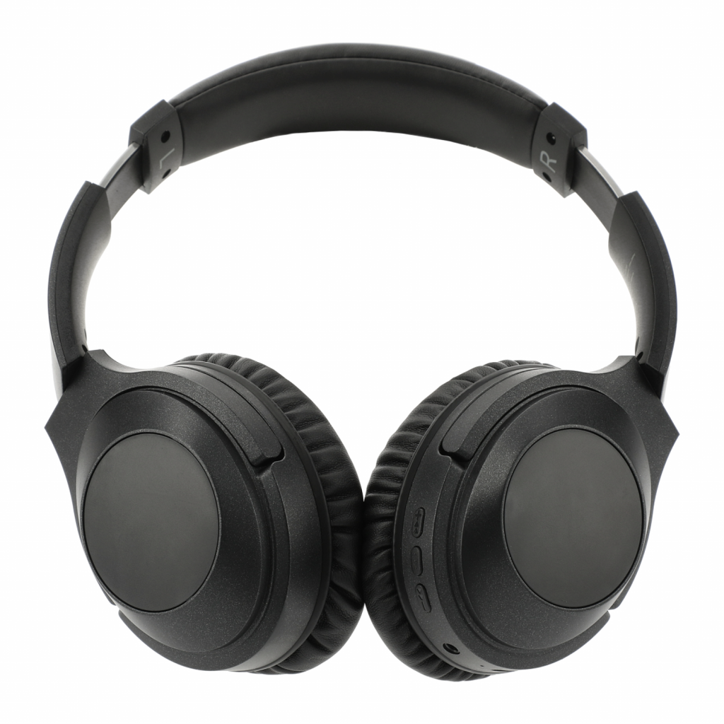 Black over the ear wireless, noise cancelling headphones