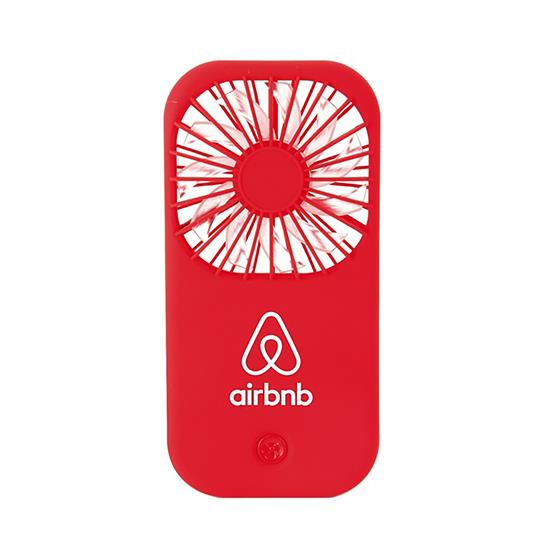 Red Hand-Held Matte Finish Portable Fan