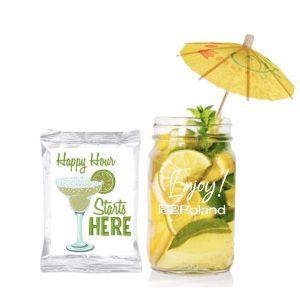 Margarita kit with mason jar and umbrella