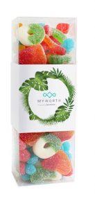 box of colourful gummies