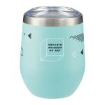 insulated teal mug with logo