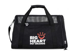 black pet carrier bag with custom logo