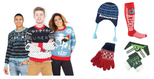 ugly holiday sweaters and socks