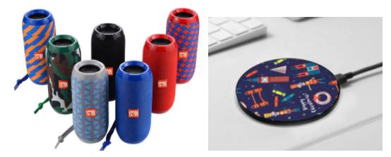 electronics with festive prints