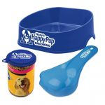 Pet set with food bowl, scoop, and lid