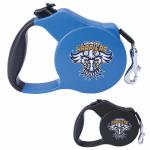 blue retractable leash