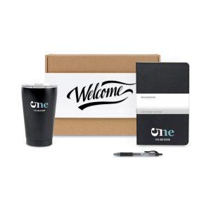 employee set with moleskine notebook