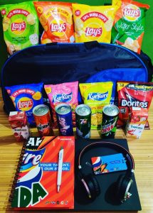 PepsiCo employee welcome kit with branded merch