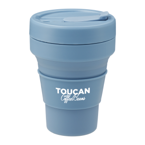blue collapsible cup