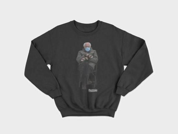 Grey sweatshirt with Bernie Sanders printed on