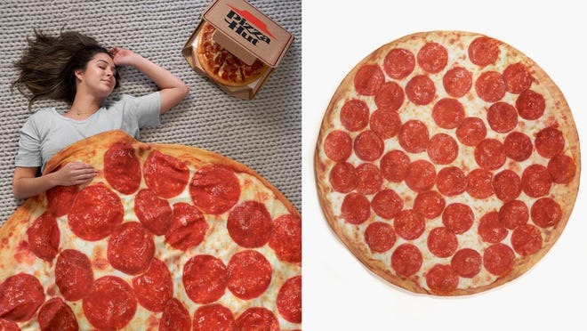 pepperoni pizza weighted blanket